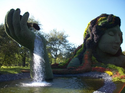 invest in yourself garden fountain